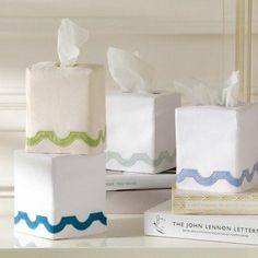 Mirasol Tissue Box Covers by Matouk  #bedding #homedecor #bedlinens #figlinenswestport #westportct #luxurylinens #towels #interiors #pillows #06880