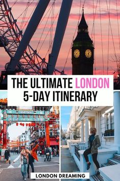 London is the perfect destination for a city getaway. Discover how to spend 5 perfect days in London with this ultimate London 5-day itinerary! With a day-by-day breakdown of all the main activities in and around London, best places to eat and where to stay. Discover what to do in London in 5 days! #london #londonitinerary #5daysinlondon #uk #europe #londontraveltips Uk Europe, Travel Europe, European Travel, Budget Travel, Travel Destinations, London Tips, London Guide, Best Places In London, Things To Do In London