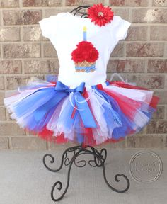LIL' LIBERTY SETBirthday Girl Tutu Skirt and by HAPPYBUBKIN, $52.00 for Cashlynns fourth of July Birthday!  ! perfect