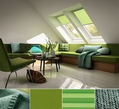 Looking to go green? Welcome the spring season into your home design with all the green options of our new blind collection: http://www.velux.com/products/be_inspired/get_the_colours_of_tomorrow
