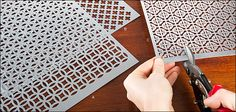 Patterned Aluminum Panels $14.50 from Lee Valley - perfect for earring holders, candle casing, etc.