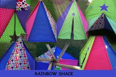 Kids Teepee...hours of creative play in this by RainbowstarzShack, $90.00