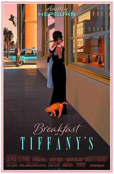 Breakfast At Tiffany's ▪️ Blake Edwards Bedroom Wall Collage, Photo Wall Collage, Picture Wall, Wall Art, Aesthetic Collage, Retro Aesthetic, Poster Wall, Poster Prints, Collage Des Photos