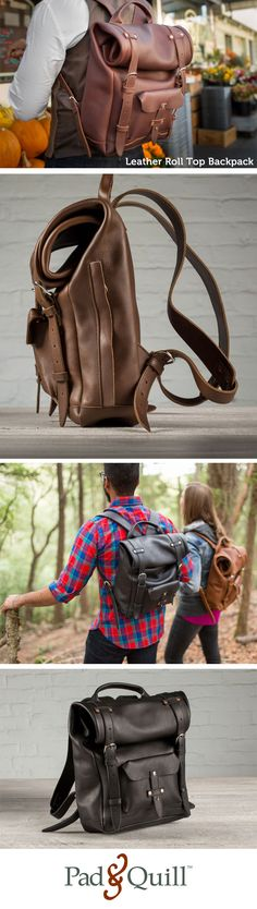 The Heritage leather laptop backpack is our weatherproof full-grain leather backpack with a rolling top. Leather Roll, Saddle Leather, Leather Men, Leather Bags, Leather Laptop Backpack, Backpack Bags, Top Backpacks, Leather Backpacks, Fashion Bags