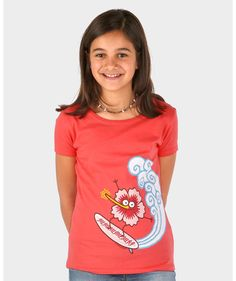 Camiseta de niña Surflor - Kukuxumusu