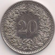 Wertseite: Münze-Europa-Mitteleuropa-Schweiz-Franken-0.20-1939-2015