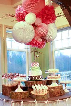 #TuFiestaTip -Una mesa redonda de postres es más practica para los invitados ya que se disminuyen las colas.