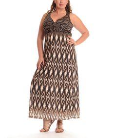Love this Coffee Diamond Maxi Dress - Plus by Shoreline on #zulily! #zulilyfinds