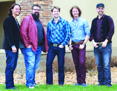 Members of Home Free took the time to pose for fans in Fairmont. Pictured, from left, are Tim Foust, Rob Lundquist, Adam Rupp, Austin Brown and Chris Rupp.