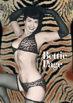 Bettie Page started the whole jet black hair, short bangs and red lipstick era that is now that rage with so many pinup girls.  She was a true Trail Blazer!