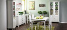 Ida-huonekalusarjassa yhdistyy ripaus perinteikästä talonpoikaishenkeä, hienostunutta kustavilaisuutta ja nykyaikainen toimiva mitoitus. Persoonallisuutta kalusteisiin tuovat kauniit yksityiskohdat: mm. uurrekoristelu eli rihlaus ja fasettihiotut lasiovet. Ida-tuoteperhe on suunniteltu niille, jo... Table, Furniture, Home Decor, Decoration Home, Room Decor, Tables, Home Furnishings, Home Interior Design, Desk