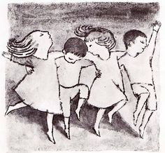 From the master of children's book illustration. Maurice Sendak | The Moon Jumpers,1959.