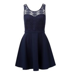 Amber Lace Bodice 2in1 Dress | Forever New  Look elegant and classic in this flattering two in one dress. This style has a lace sweetheart shaped bodice which is lined, a flattering ponte skirt and an exposed zip at center back.