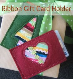 Easy Gift Card Holder using scraps on The Sewing Loft