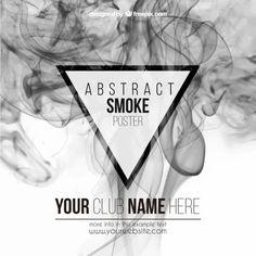 抽象的な煙のポスター 無料ベクター