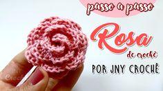 Passo a passo de uma rosa de crochê linda e fácil ensinada com detalhes! Aula completa aqui -->https://www.youtube.com/watch?v=XbaZjZKtEZU