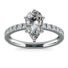 Diamond Rings : Are you a fan of Pear perfection? Show off that gorgeous sparkling center stone