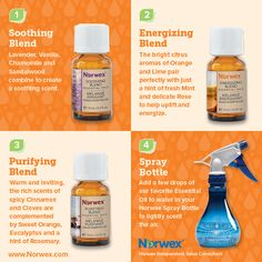 Norwex Essential Oils and Spray Bottle. For Facebook parties, online events and marketing.
