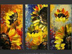 Sunflower decorating | CORDOBA SUNFLOWERS - Flower Paintings, Sunflowers, Decorative