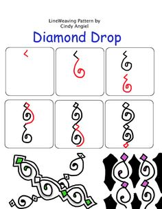 Diamond Drop Pattern by Cindy Angiel