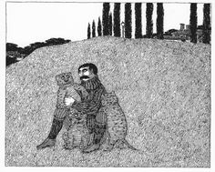 from The Lost Lions by Edward Gorey Edward Gorey Books, Wordless Book, Masterpiece Theater, Mary Oliver, Up Book, Spooky Scary, Create Image, Fairy Land, Surreal Art