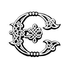 Celtic Lettre E - Illustration vectorielle