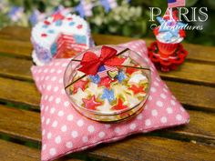 4th July Red White and Blue Star Cookies Gift by ParisMiniatures