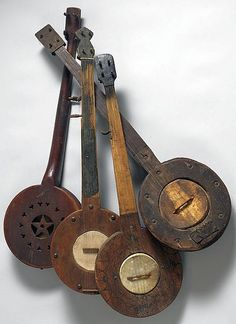 Five Mountain Banjos - American, Virginia and North Carolina, c1880-1920.