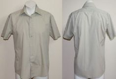 Vintage Style Original Ben Sherman Designer Shirt Fashion Grey / Green Size M