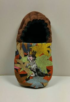 Slippers made with Where the Wild Things Are fabric by KidWhimsy