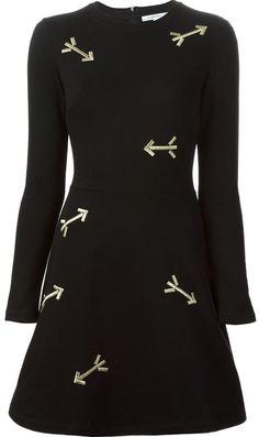 Carven arrow embroidered A-line dress on shopstyle.com