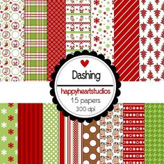 Digital Scrapbooking DashingINSTANT DOWNLOAD by azredhead on Etsy
