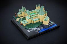 Hogwarts Castle - Back View Star Wars Boba Fett, Star Wars Clone Wars, Star Wars Art, Lego Star Wars, Star Trek, Lego Words, Micro Lego, Lego Activities, Lego For Kids