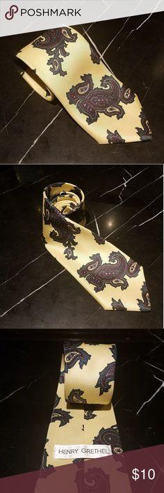 Beautiful Henry Grethel Paisley Tie Beautiful Henry Grethel Paisley Tie in excellent condition. Henry grethel Accessories Ties