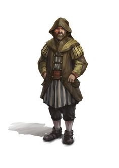 A concept for a townsman for a personal project (the same one as the one with the guards).
