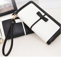 Fashion-Women-Clutch-buckle-Soft-Leather-Wallet-Lady-PU-Long-Card-Purse-Handbag