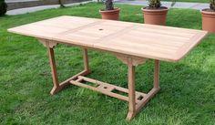 TEAK XXL Ausziehtisch Holztisch Gartentisch Garten Tisch 150 / 200 Länge 90cm Breite, Holz geölt Modell: SABA Alles für Garten und Terasse Gartenmöbel Tische