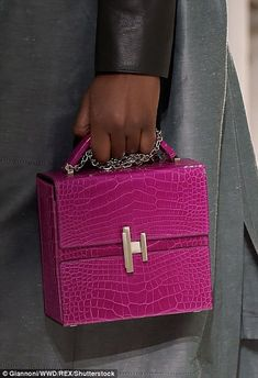 A hot pink crocodile Cinetic box bag is the latest addition to the brand's legendary acces...