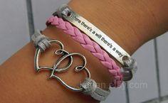 mutual affinity Bracelet  bronze  soulmate inspirational by Jiadan, $7.99