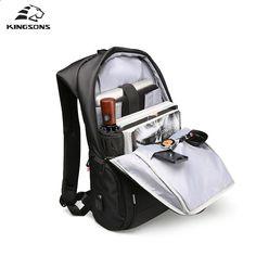 f56cfadd059f Rachete Kingsons 13 15 17 inch Geantă rucsac pentru laptop încărcător USB  rucsac anti-furt masculin rucsac de afaceri de mare capacitate. Waterproof  ...