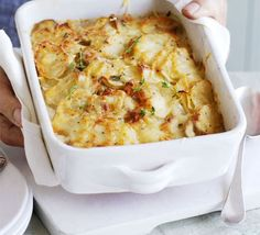 Lower fat potato dauphinoise 232 kcalories, protein 6.0g, carbohydrate 27.0g, fat 12.0 g, saturated fat 7.0g, fibre 2.0g, sugar 3.0g, salt 0.25 g