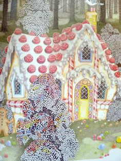 Vintage Fairy Tale Hansel And Gretel Candy House Poster