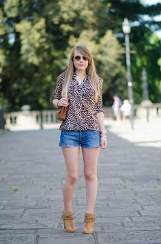 New Outfit Post - Leopard With Denim Shorts & Jimmy Choos http://raindropsofsapphire.com/2014/05/20/leopard-with-denim-shorts-jimmy-choos/