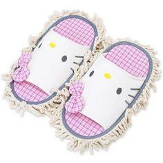 HK mop slippers http://www.hellokittyzone.com/wp-content/uploads/2008/03/hello-kitty-mop-slippers.jpg