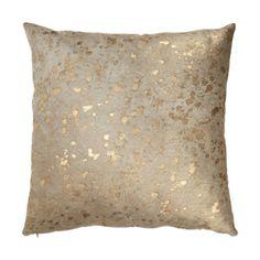 Barneys New York Gold-Spotted Haircalf Pillow at Barneys.com