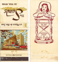 Sands Hotel & Casino Vintage Las Vegas Matchbook