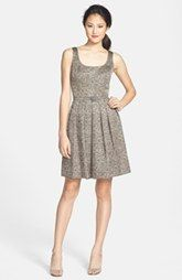 Donna Morgan Metallic Jacquard Fit & Flare Dress