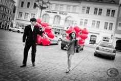 """""""rote Luftballons zur Hochzeit""""  Carla Schmidt • Fotografie"""