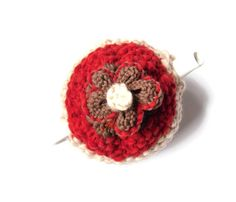 Cream / Red Tea Pot Cosy  Chunky hippy cozy  by TheFeminineTouch, £27.00