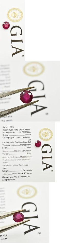 Amethyst 10192: Gia Certified Heat Treatment Only Madagascar Round Brilliant 1.06Ct Genuine Ruby -> BUY IT NOW ONLY: $1091.09 on eBay!